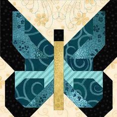 "~ Butterflies Are Free ~ 18"" blocks"