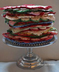 kitchen item, pot holder, vintag linen, pretti pot, style intérieur, crochet hotpad