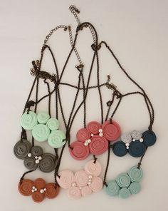 fabric necklaces, trapillo collar