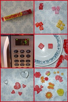 use starburst candies as edible decorations. unwrap and microwave in 5-second intervals until pliable