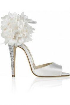 fashion, wedding shoes, weddings, heel, white, brian atwood, brianatwood, bridal shoes, flower