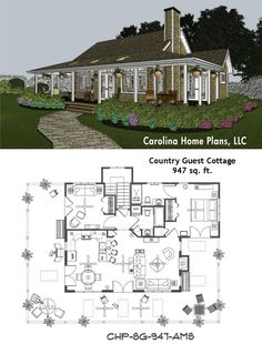 Small cottage home plans with wrap-around porch