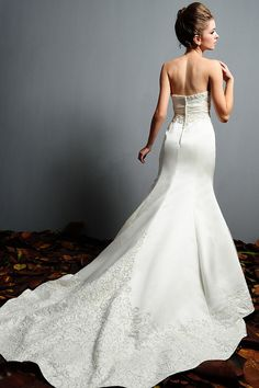 mermaid cut with chapel train and intricate beading...beautiful