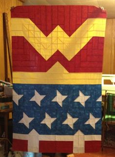 My alter ego....Wonder Woman quilt... would love to make this some day....