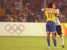 Ronaldinho & Lionel Messi