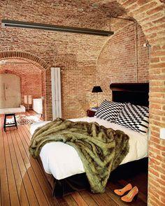 Exposed Brickwork Bedroom