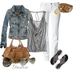 White&Grey with a jean jacket.