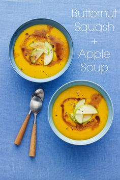 Butternut squash and apple soup? Yes, please!