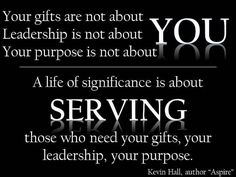 Our purpose is not about us. It's about what Jesus wants from us. #serveothers