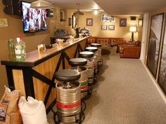 basement bars, man room, chair design, house bar, pool tables, bar stools, home bars, man caves, home improvements