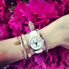 Eva Chen looking purr-fect in our kitty cat watch #CCStyle