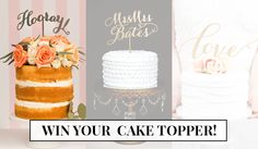 Win a custom cake topper from Better Off Wed! - Wedding Party