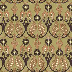 wall paper, nouveau pattern