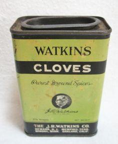 Early Watkins Cloves Advertising Tin