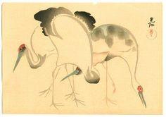 Cranes by Ogata Korin (1658-1716)