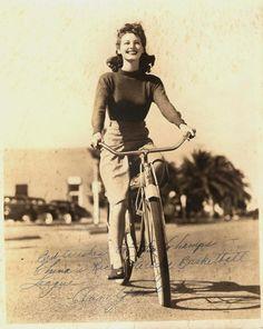 ava gardner on a bike