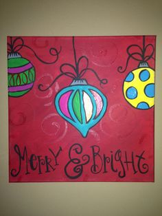 Merry and Bright Ornament Painting