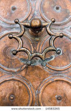 Copper door knocker...