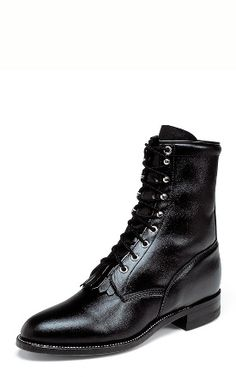 Justin Boots - Ropers - Black http://www.justinboots.com/boots/Ropers.html?424fccf8=506 favorit boot, 506, roper boot, classic lace, boot men, black kiddi, justin boot, justin roper, boots