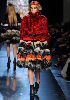 fashion weeks, paris fashion, jean paul gaultier, fun fur, gaultier fall