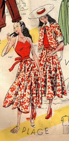The 1940s-1948 Le petit Echo de la mode by april-mo, via Flickr