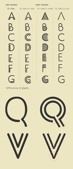 Typeface Adec2.0 (free) by Serge Shi, via Behance