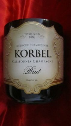 Korbel Champagne Brut  Recycled bottle now a candle by CandlesByOC, $20.00