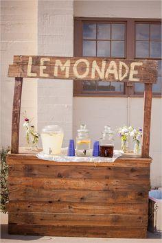 lemonade stand  Event Designer: http://xoxobride.com/  Photographer: http://www.kenkienow.com/
