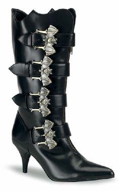 Bat Buckle Boots