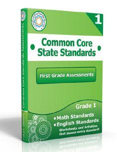 Description: First Grade Assessment Workbook, 1st Grade Assessment Workbook, First Grade Common Core Assessment Workbook, 1st Grade Common C...
