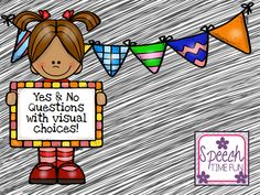 Speech Time Fun: Yes & No Questions With Visual Choices! Pinned by SOS Inc. Resources. Follow all our boards at pinterest.com/sostherapy/ for therapy resources.