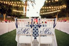 mr and mrs chair signs Viceroy Palm Springs Destination Wedding