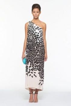 DVF | Liluye Printed Dress In Fallings Marks Nude, Spring 2012: Beginnings