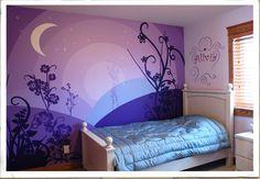 little girl's violet garden room. jodywest.com