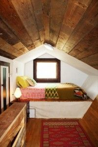 I love Attic rooms. They're so cozy, I can sleep all day.