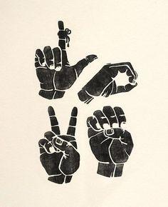 Sign Language Love Print