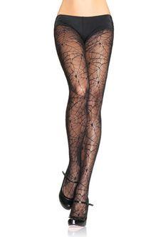Spiderweb lace pantyhose