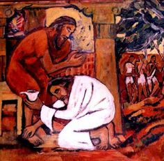 jyotiartashram: THE MINISTRY OF JESUS - Washing the disciples' feet  Images of Jesus...which do you connect with?