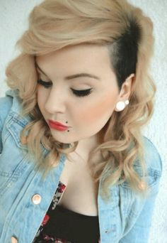 cute shaved side hairstyles, ball, hair colors, makeup, blondes