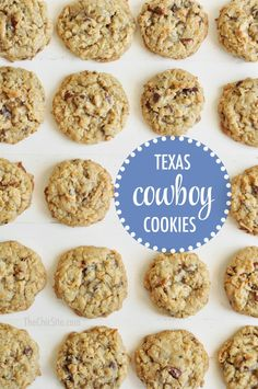 chocolate chip cookies with coconut and oats aka Texas Cowboy Cookies