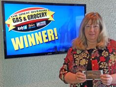 Debbie Achten won $100 in The Great Gas & Grocery Giveaway from KXLY4, Divine's & Yokes.