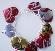 Coke Cans Bracelet- This would be fun to try and make.