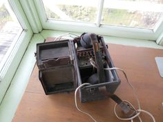Fire spotters in towers would use crank phones like this one to call in their reports.