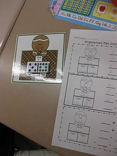 gingerbread math packet $10.00 on TpT
