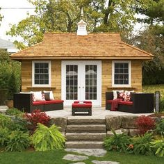 Another really cute backyard guest house idea.