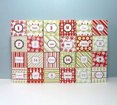 Advent Calendar printable box templates // instant download // easy to make