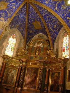 european interior, church build