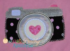 Paris Camera Applique Design