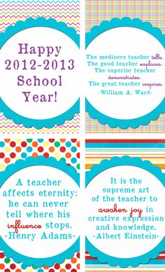 Back to School Gift Tags and Cards--free printable!