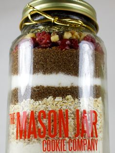The Mason Jar Cookie Company offers hand-packed, artisan cookie blends packaged in a Mason jar. Gluten-free options are available and there's even the option to custom design your cookie mix and label.